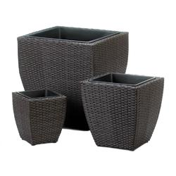 Category: Dropship Vietnam, SKU #10018730, Title: Tuscany Wicker Square Planters