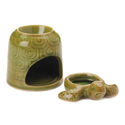 Category: Dropship Oils, SKU #10018755, Title: Green Turtle Oil Warmer