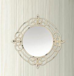 Antique White Fleur-De-Lis Wall Mirror