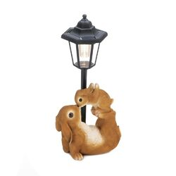 Adorable Mom & Baby Rabbit Solar Lamp