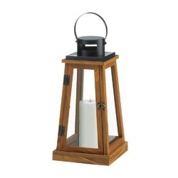 Wooden Pyramid Candle Lantern