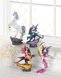 Fairy & Dragon Citrine Geode Statue