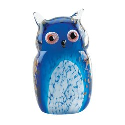 Blue Owl Art Glass