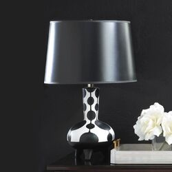 Dollop Black And White Table Lamp