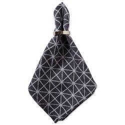 Black & White Triangle Napkin Set/6