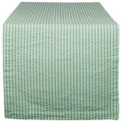 Bright Green Seersucker Table Runner 14X72