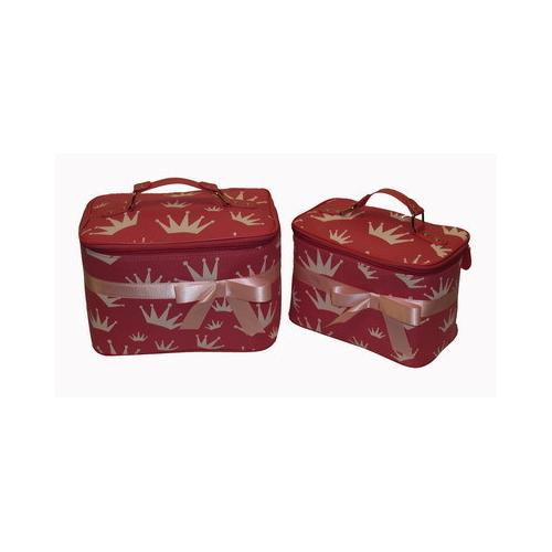 Queen Collection Padded Crown Case 2- pc Set