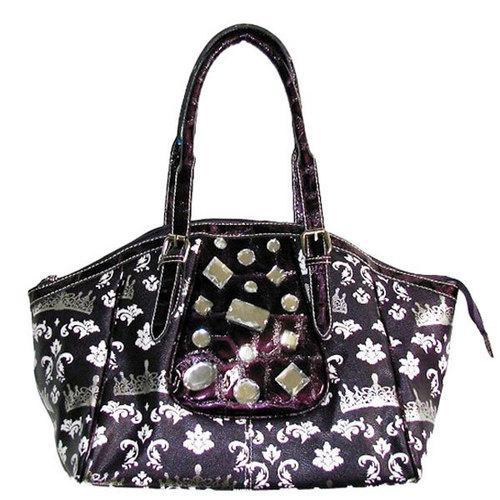 Crown Print Hobo Bag