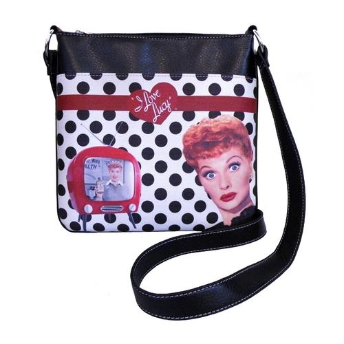 Licensed Lucy Polka Dot Messenger Bag
