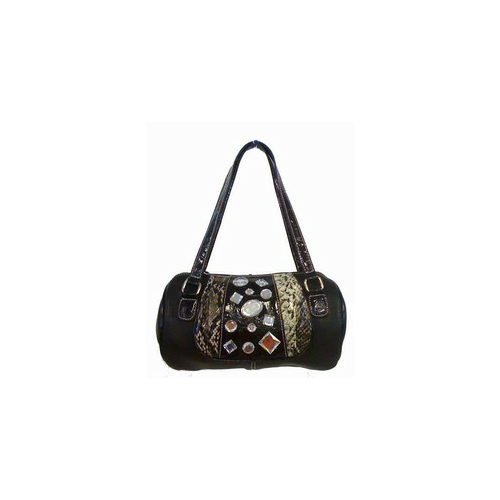 Black Rhinestone Barrel Bags