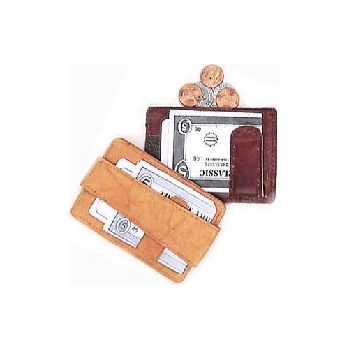 Leather Money Clip & Change Purse