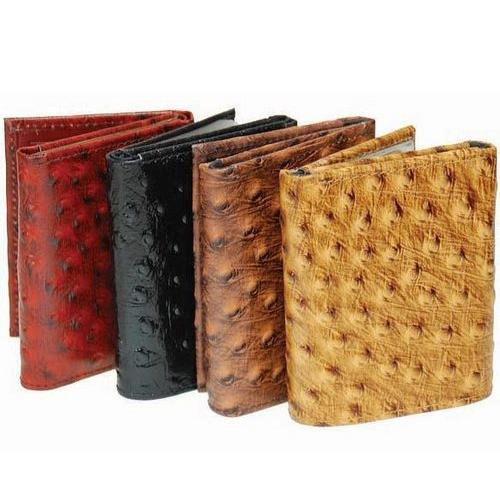 Fashion Ostrich Print Tri-Fold Wallet