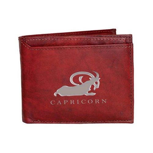 Capricorn Sign Leather Wallets