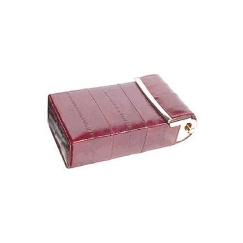 Eel Skin Flip top cigarette case