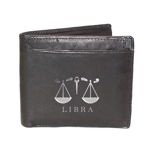 Libra Sign Leather Wallets