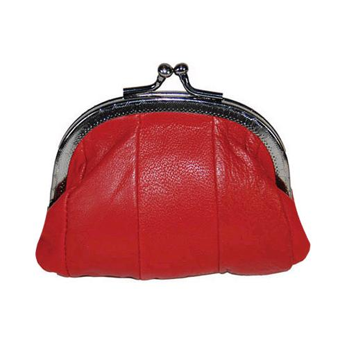 Leather Change Purse with Clasp