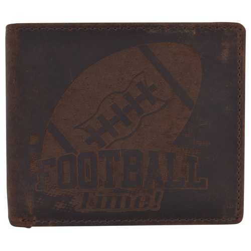 Men Football Stamped Wallet w/ RFID Protection