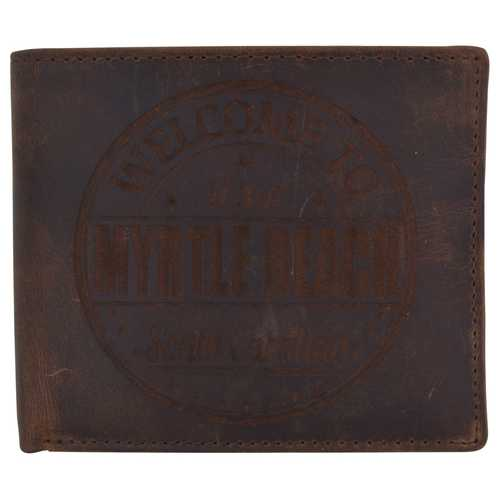 Men Myrtle Beach Stamped Wallet w/ RFID Protection