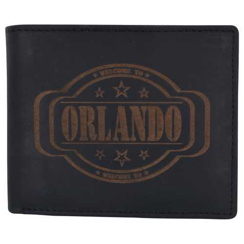 Men Orlando Stamped Wallet w/ RFID Technology