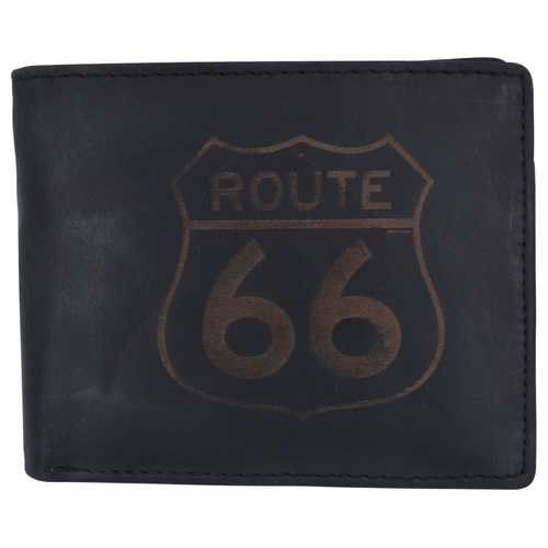 Men Rustic Route 66 Stamped Wallet w/ RFID Protection