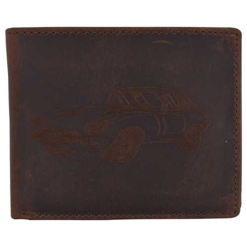 Men Rustic Shelby Cobra Design Wallet w/ RFID Technology