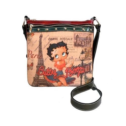 Betty Boop in Paris Messenger Bag