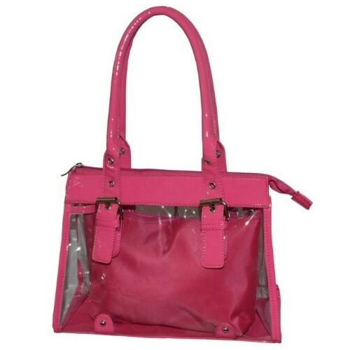Clear Large Shopper Bag With a Removable Pouch