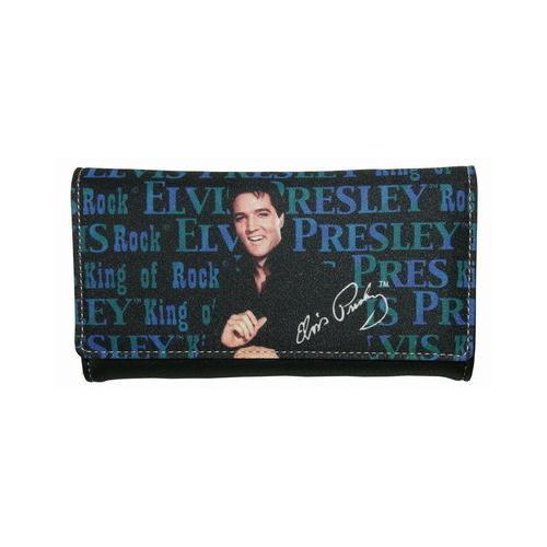 Blue Elvis Presley Wallet
