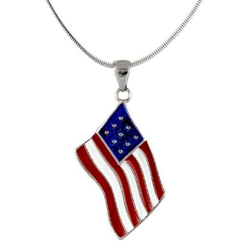 AFONiE- American Flag Pendent Necklace