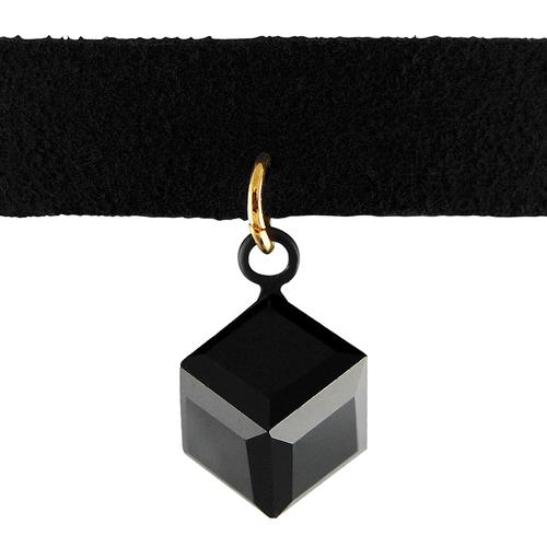 3D Square Crystal Fashion Chocker Necklace