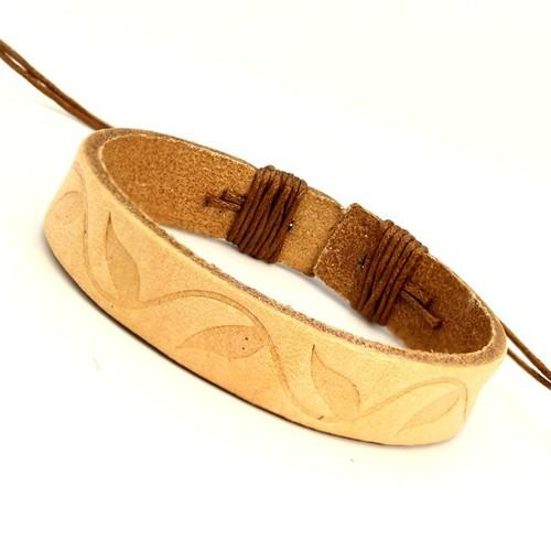 Beige Leather Bracelet
