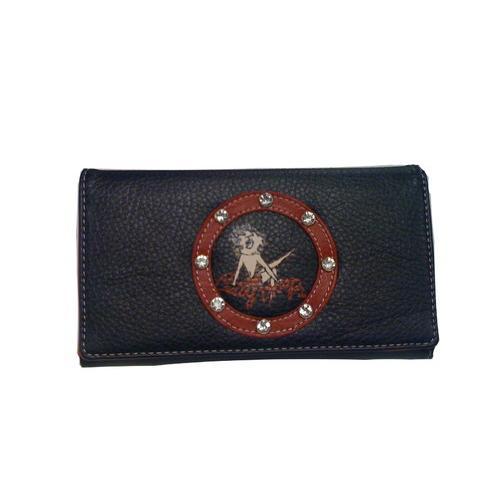 Licensed Betty Boop Black Wallet