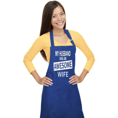 My Husband Has An Awesome Wife Fun Women Apron