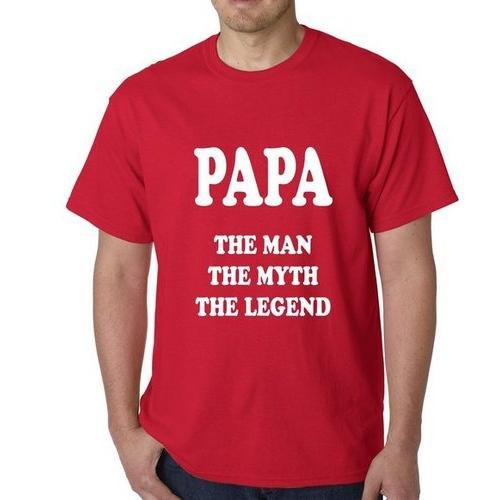 Papa - The Man, The Myth, The Legend Fathers Day Mens T-shirt
