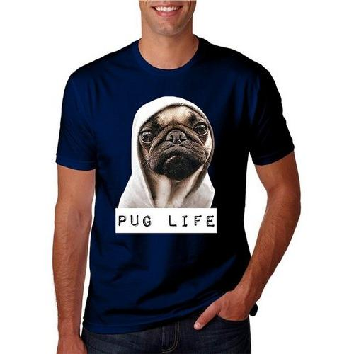 Adult Unisex Pug Life Funny Thug Life T-Shirt