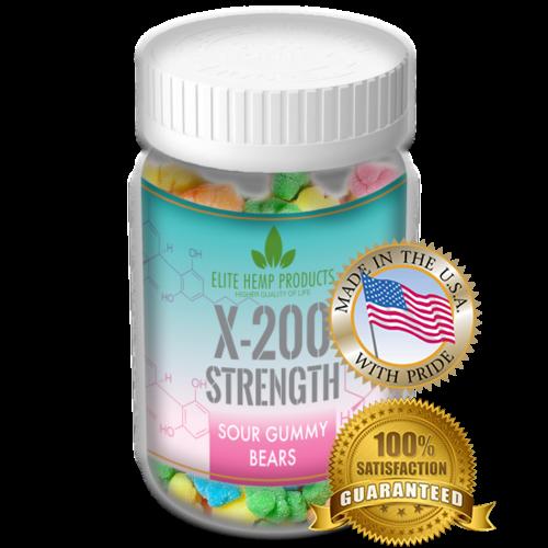x200 Strength Elite Gummies Hemp Infused Bear Gummies