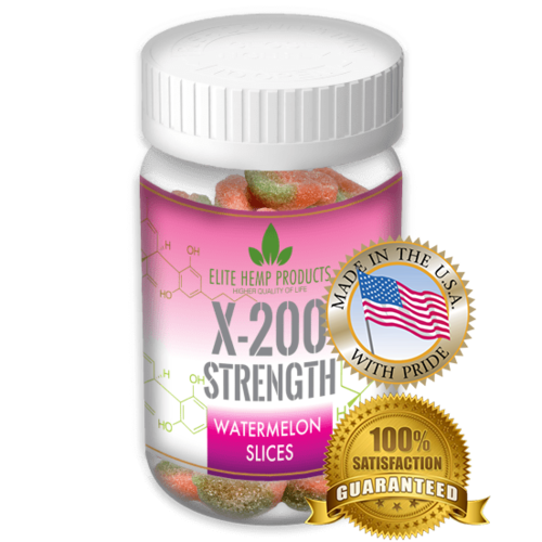 x200 Strength Elite Gummies Watermelon Gummies