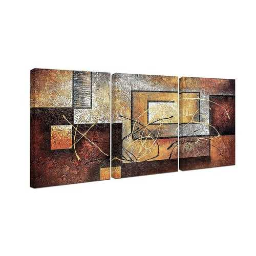 Wall Decor Oil Paintings On Canvas Various Abstract Designs 3 Panels