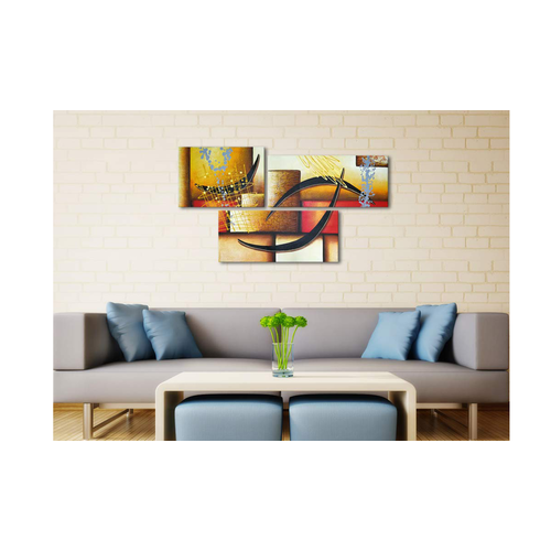 Abstract Wall Decor Oil Paintings On Canvas Various Abstract Designs 3  Panels