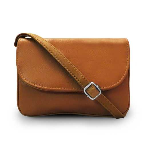 Accordion Leather Messenger Bag