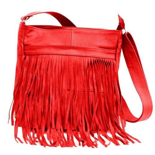 AFONiE Genuine Western Messenger Fringe Mexican Leather Handbag Fringe Mexican Leather Handbag