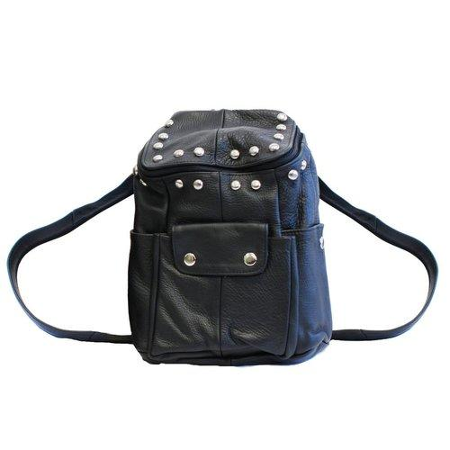 Soft Leather Biker Backpack