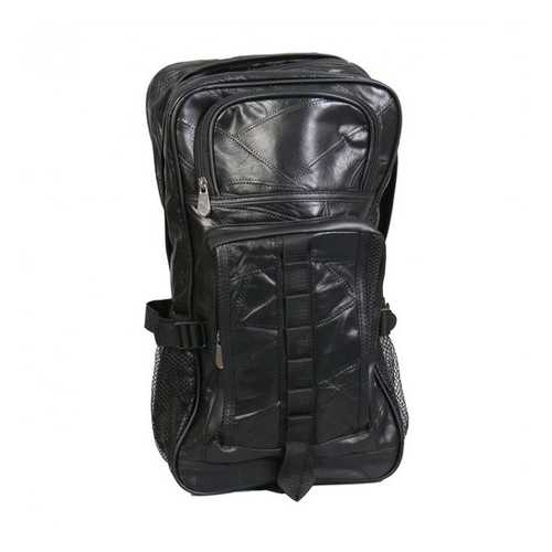 Black Leather Patchwork Backpack
