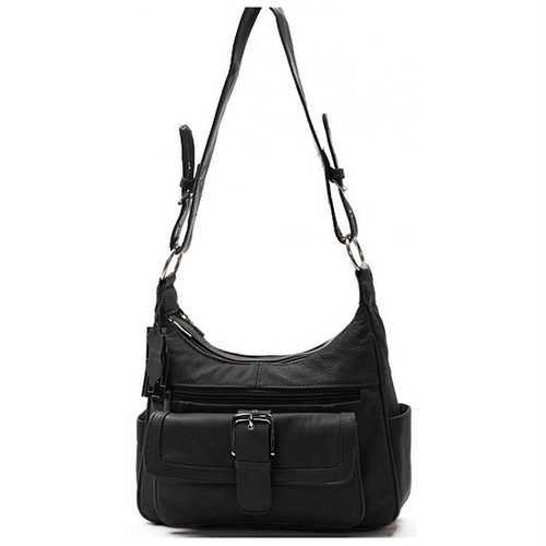 AFONiE Collection Timeless Black  Genuine Leather Women Purse