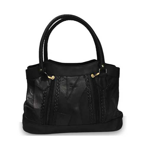 Black Leather Hobo Purse For Women