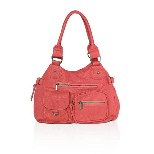 AFONiE Washable Soft Multi Pocket Shoulder Bag