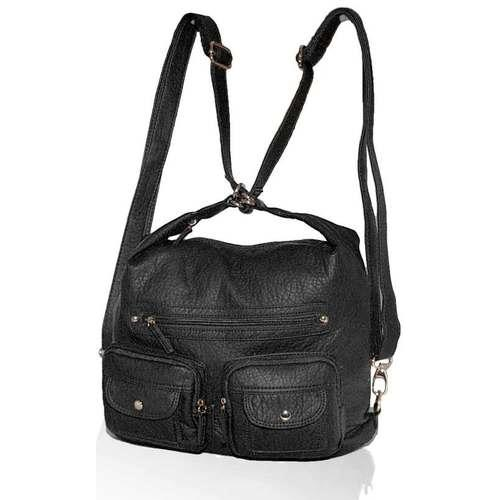 AFONiE- 3 In 1 Washable PU Series Handbag-Black Color