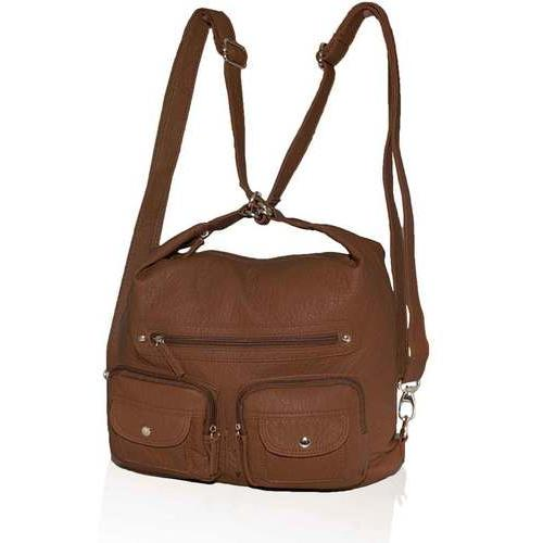 AFONiE- 3 In 1 Washable PU Series Handbag-Brown Color