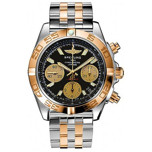 Breitling Men's Analog Display Swiss Automatic Two Tone Watch
