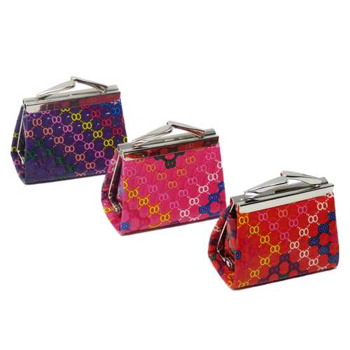 Mini Kiss Lock Coin Wallet-Assorted Colors